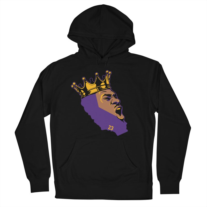 California King Women's French Terry Pullover Hoody by Lakers Nation's Artist Shop