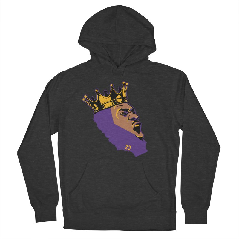 California King Men's French Terry Pullover Hoody by Lakers Nation's Artist Shop