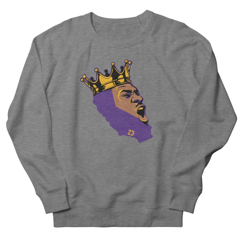 California King Men's French Terry Sweatshirt by Lakers Nation's Artist Shop