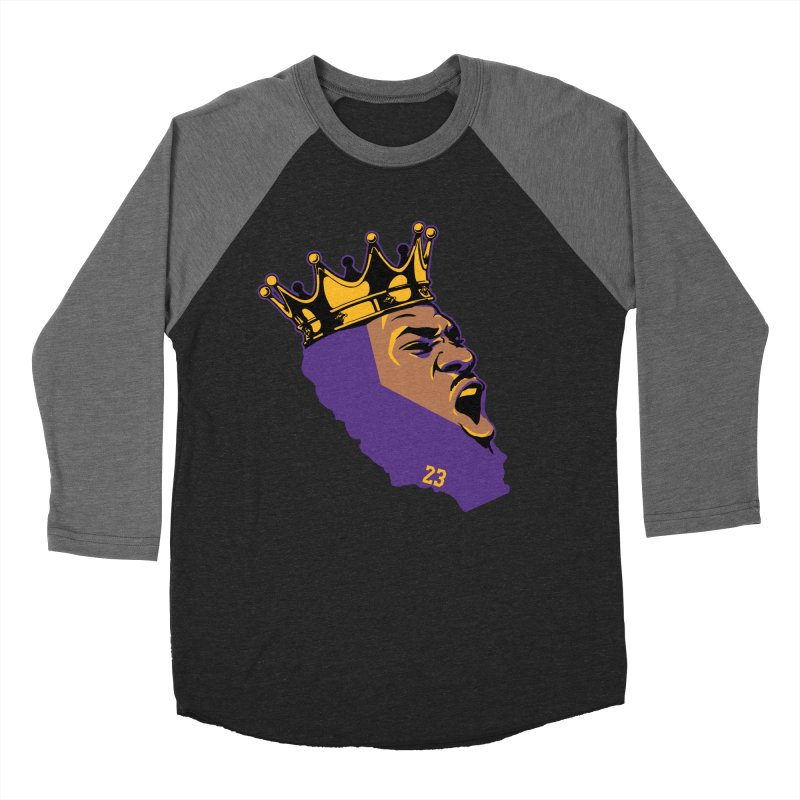 California King Women's Baseball Triblend Longsleeve T-Shirt by Lakers Nation's Artist Shop