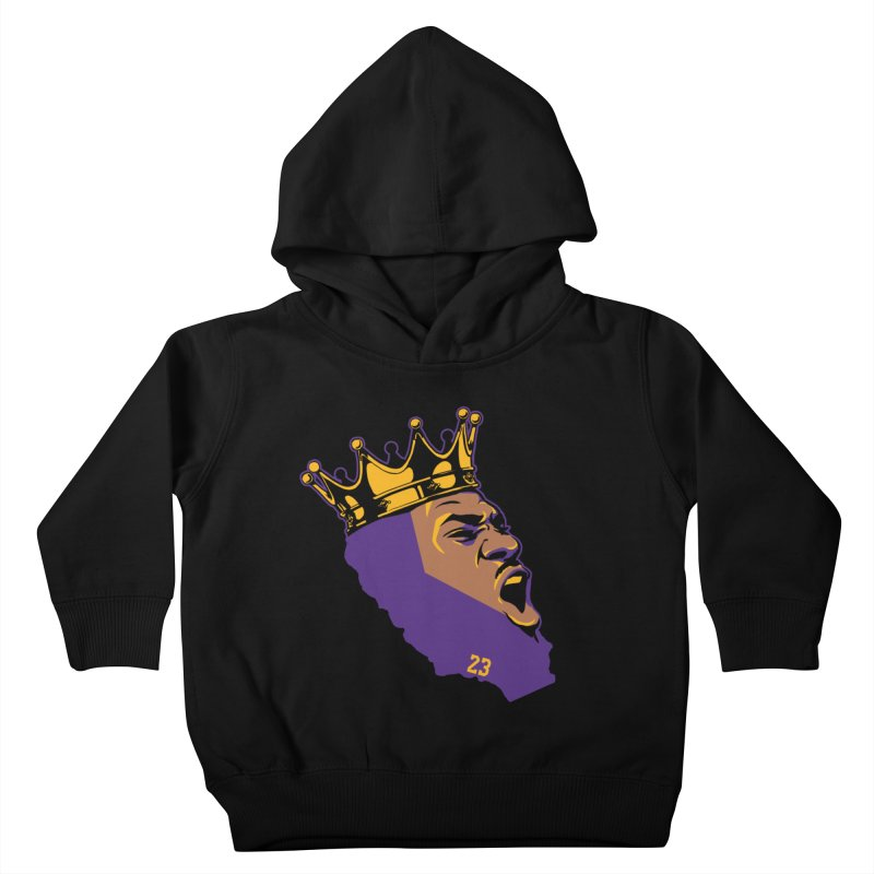 California King Kids Toddler Pullover Hoody by Lakers Nation's Artist Shop