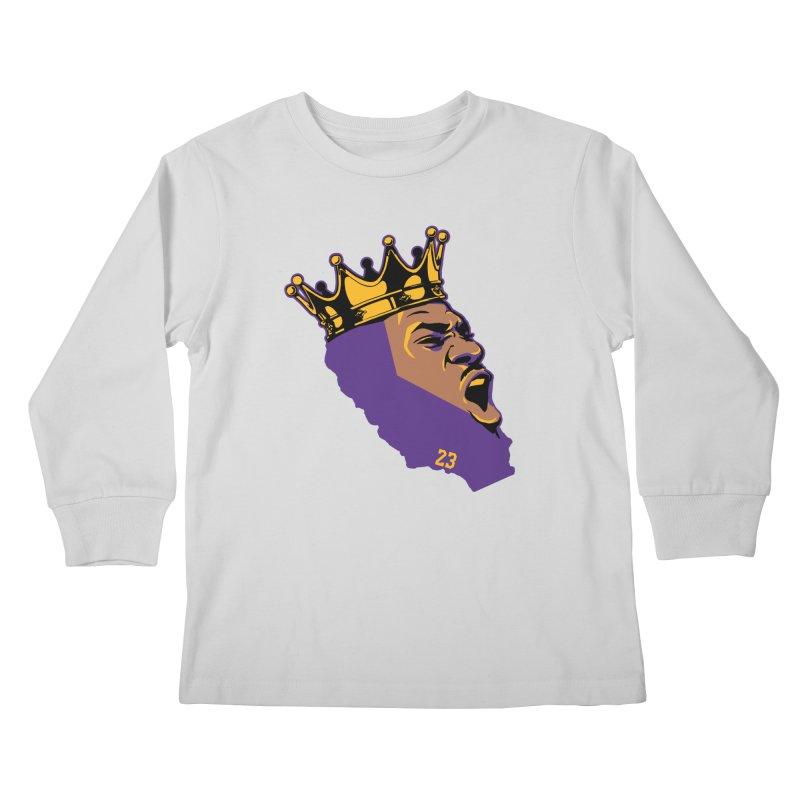 California King Kids Longsleeve T-Shirt by lakersnation's Artist Shop