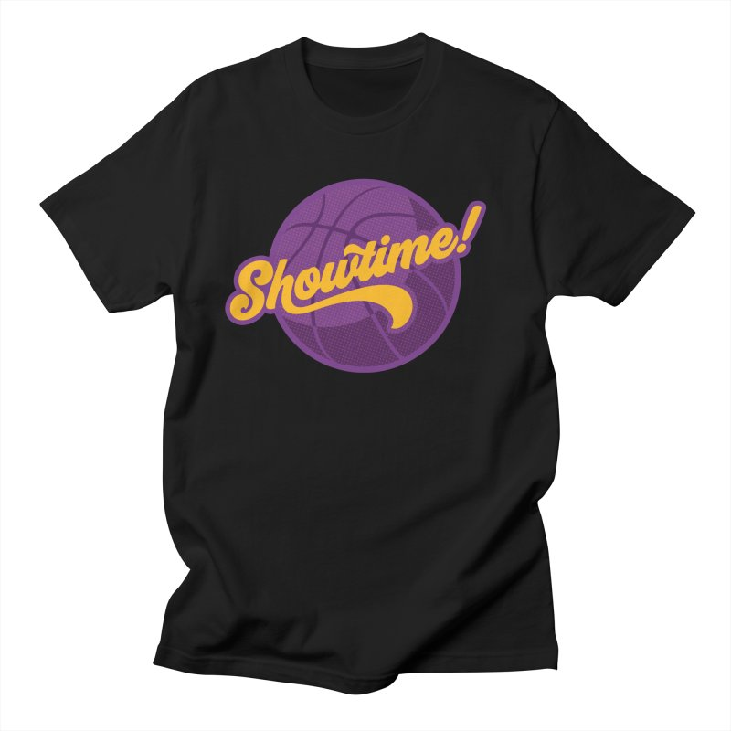Showtime! in Men's Regular T-Shirt Black by Lakers Nation's Artist Shop