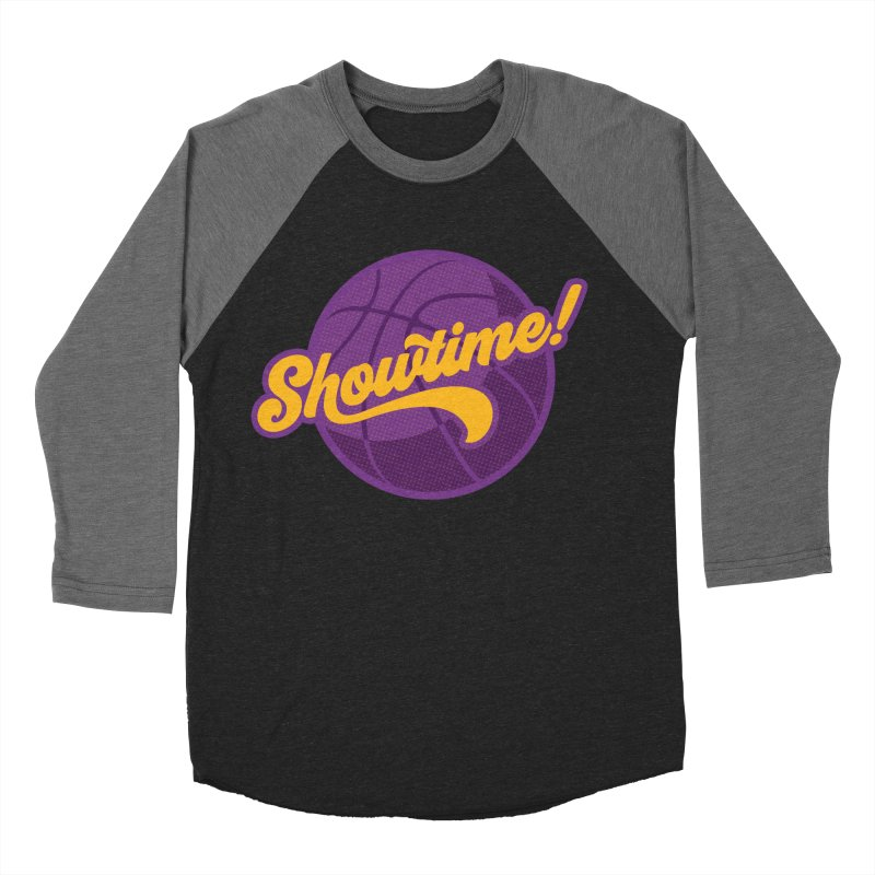 Showtime! Women's Baseball Triblend Longsleeve T-Shirt by Lakers Nation's Artist Shop