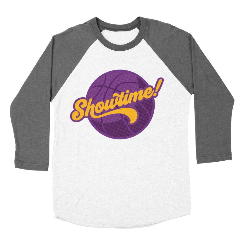 Showtime! Men's Baseball Triblend Longsleeve T-Shirt by Lakers Nation's Artist Shop