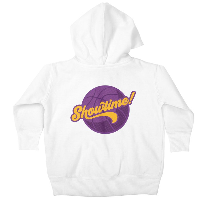 Showtime! Kids Baby Zip-Up Hoody by Lakers Nation's Artist Shop