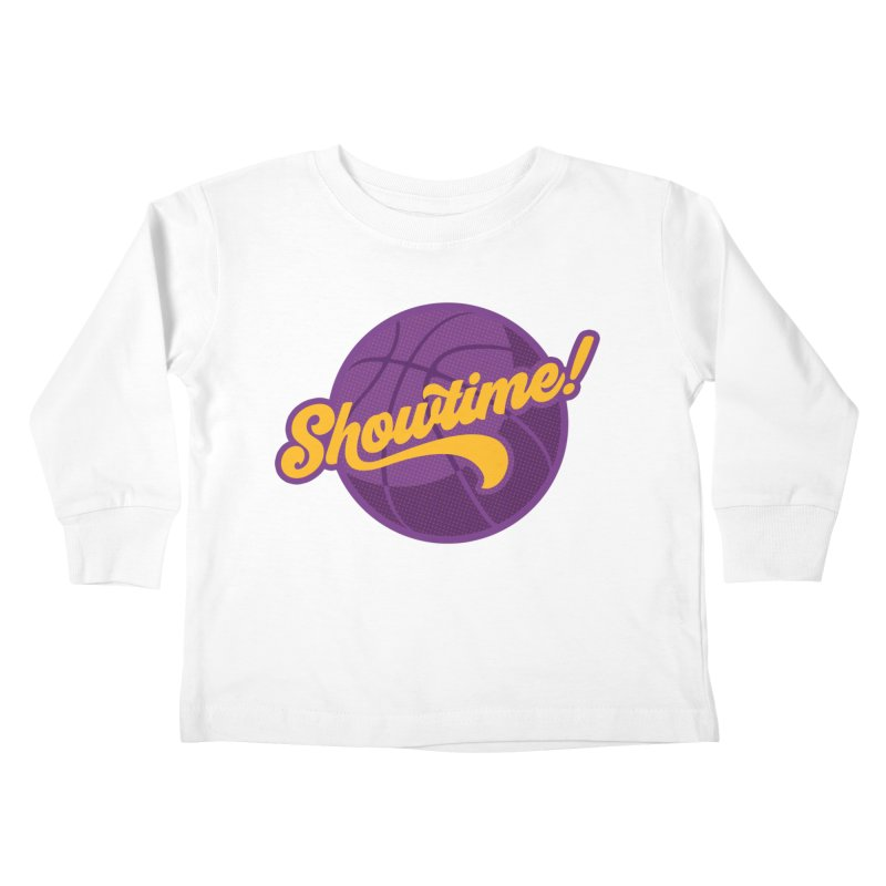 Showtime! Kids Toddler Longsleeve T-Shirt by Lakers Nation's Artist Shop