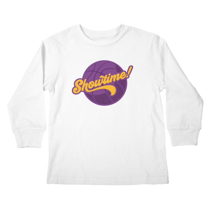 Showtime! Kids Longsleeve T-Shirt by Lakers Nation's Artist Shop