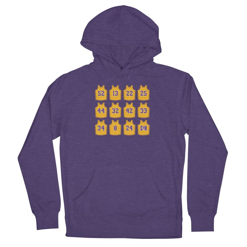Retired Men's French Terry Pullover Hoody by Lakers Nation's Artist Shop