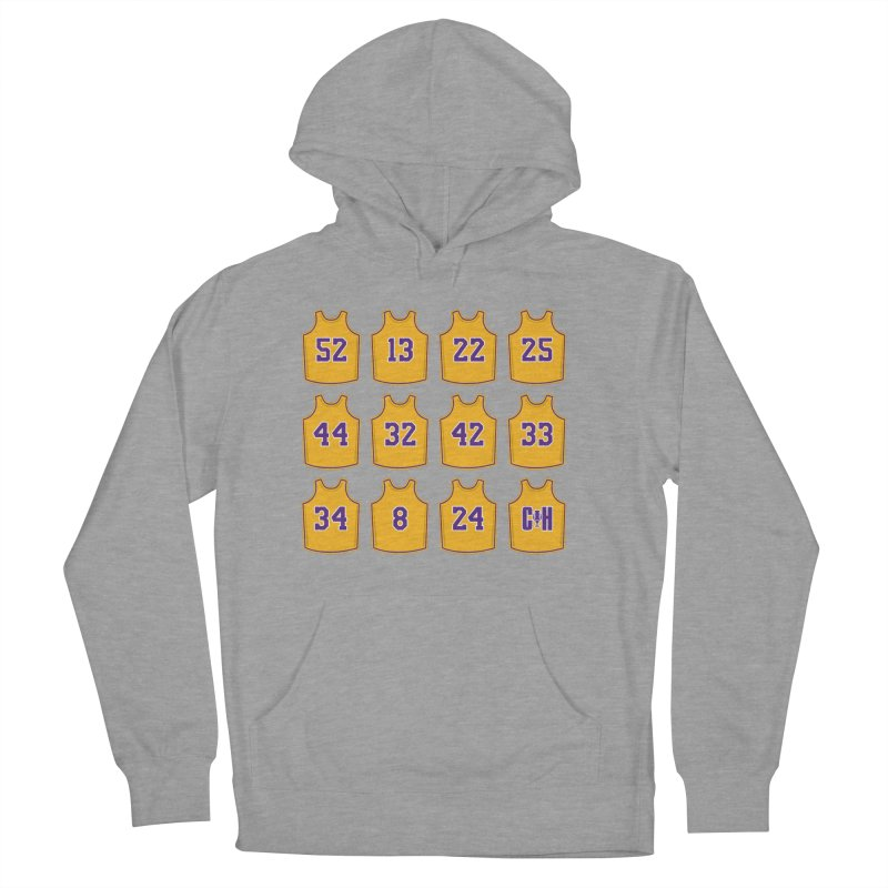 Retired Women's French Terry Pullover Hoody by Lakers Nation's Artist Shop