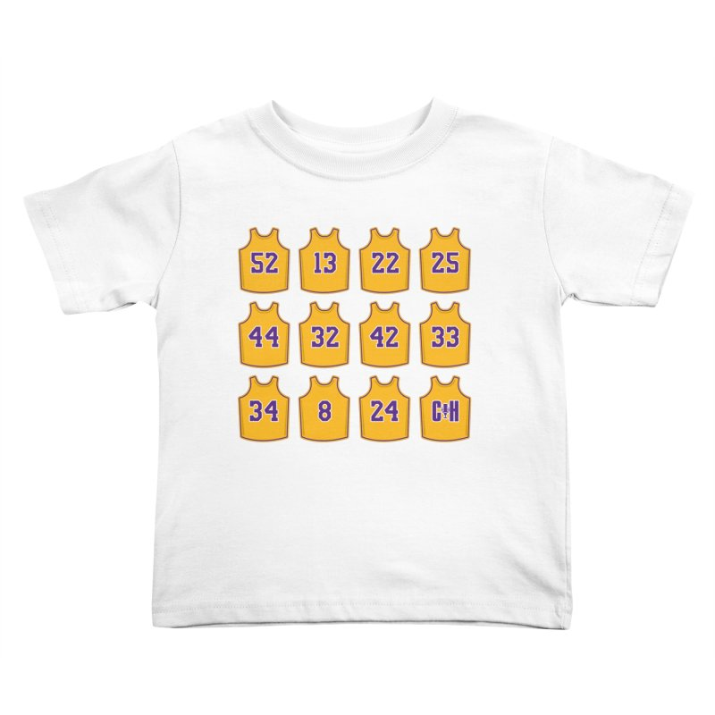 Retired Kids Toddler T-Shirt by Lakers Nation's Artist Shop