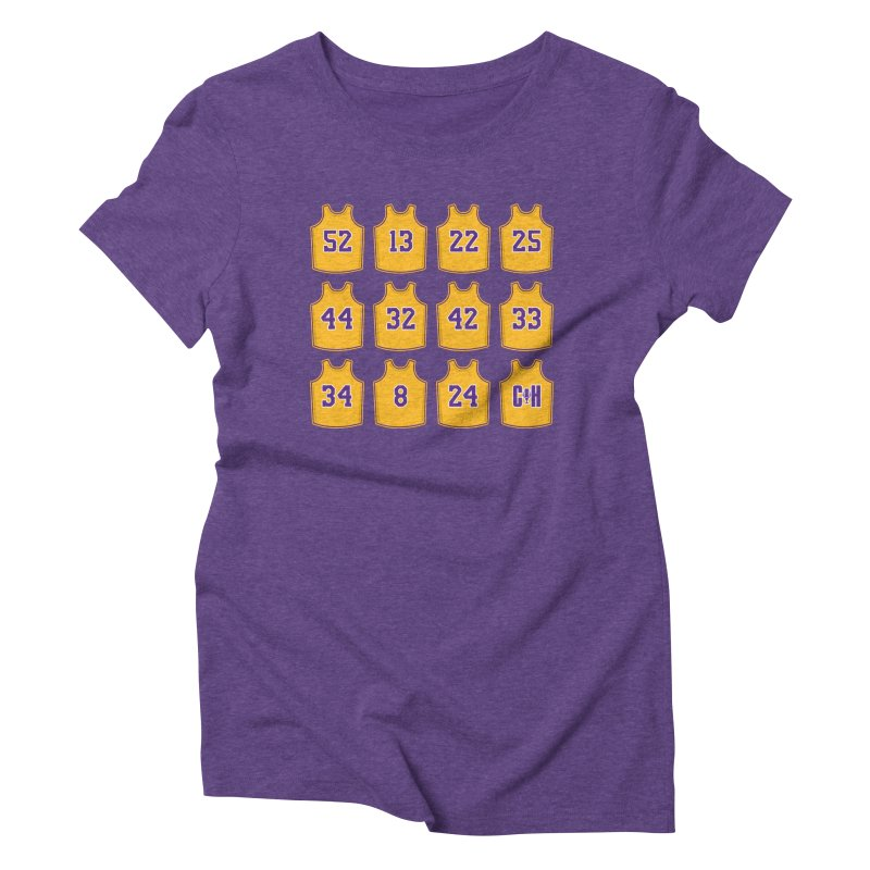 Retired Women's Triblend T-Shirt by Lakers Nation's Artist Shop