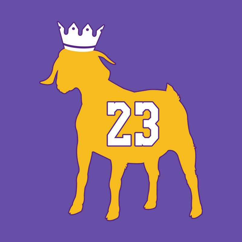 The GOAT? Men's Longsleeve T-Shirt by Lakers Nation's Artist Shop
