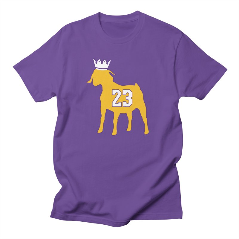 The GOAT? in Men's Regular T-Shirt Purple by Lakers Nation's Artist Shop