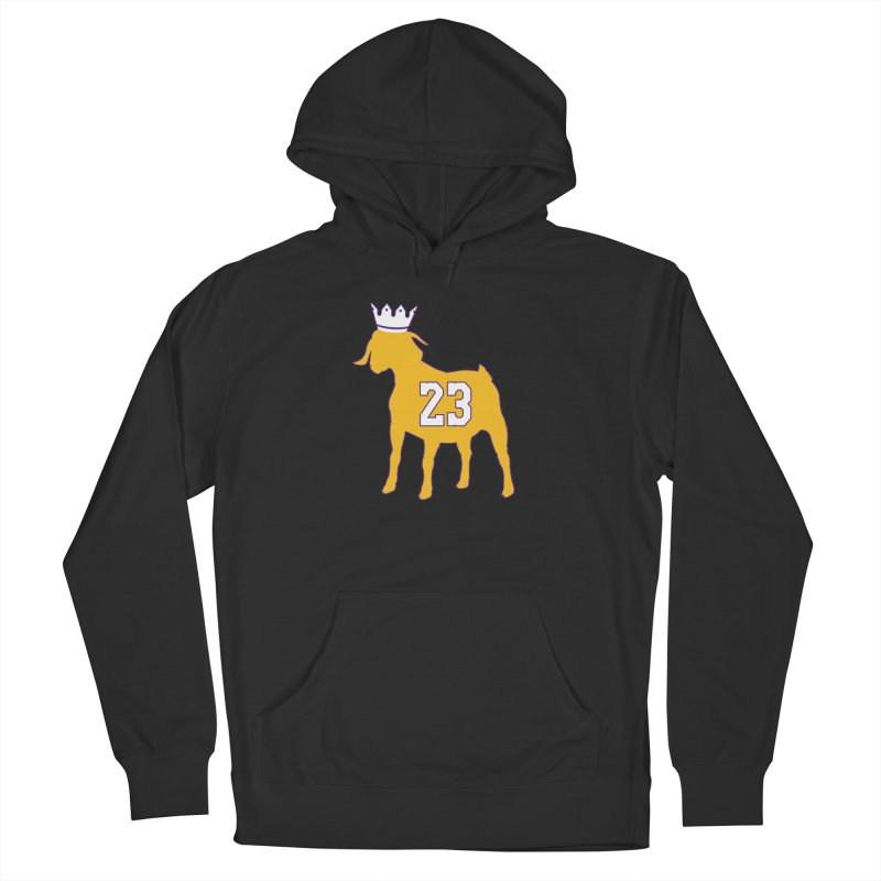 The GOAT? Men's French Terry Pullover Hoody by Lakers Nation's Artist Shop