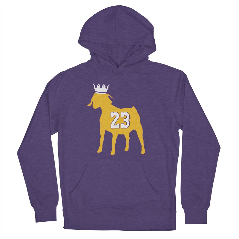 The GOAT? Women's French Terry Pullover Hoody by Lakers Nation's Artist Shop