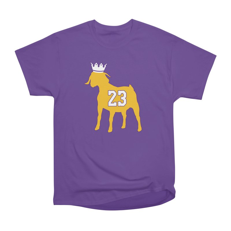 The GOAT? Women's Heavyweight Unisex T-Shirt by lakersnation's Artist Shop