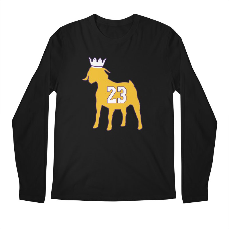 The GOAT? Men's Regular Longsleeve T-Shirt by lakersnation's Artist Shop