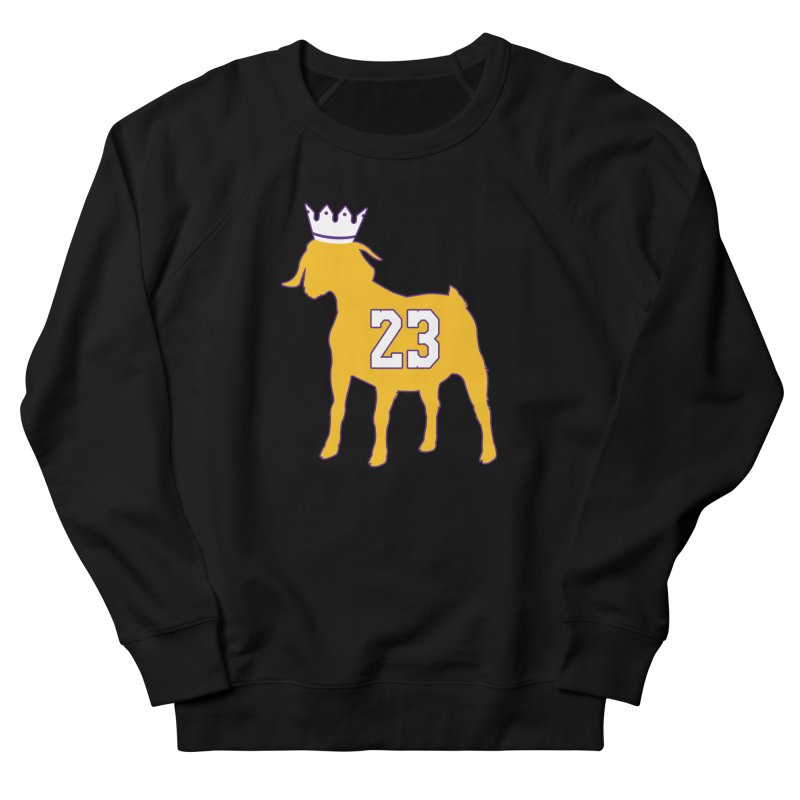 The GOAT? Women's French Terry Sweatshirt by Lakers Nation's Artist Shop
