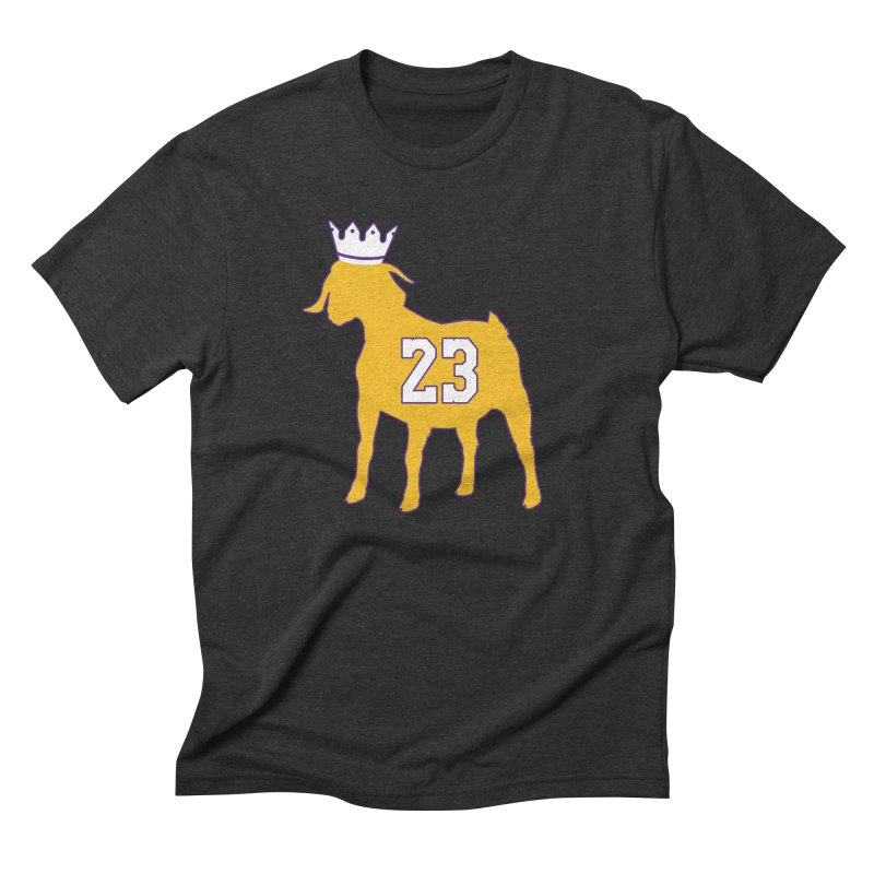 The GOAT? Men's Triblend T-Shirt by Lakers Nation's Artist Shop