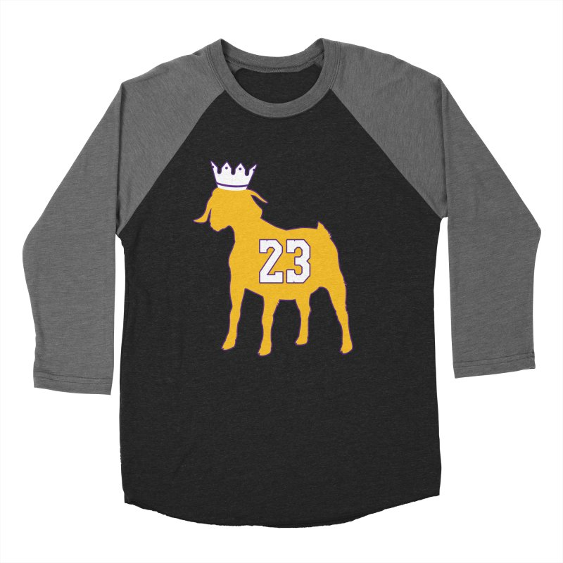 The GOAT? Men's Baseball Triblend Longsleeve T-Shirt by Lakers Nation's Artist Shop