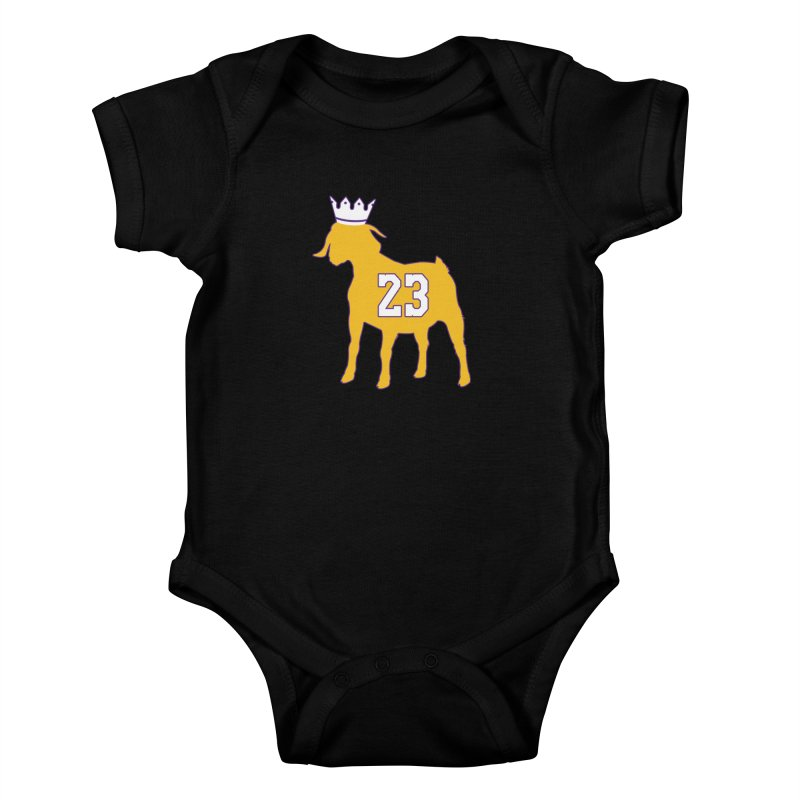 The GOAT? Kids Baby Bodysuit by Lakers Nation's Artist Shop