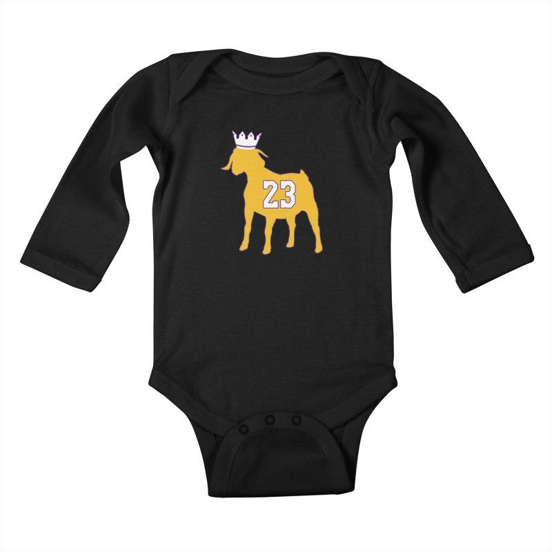 The GOAT? Kids Baby Longsleeve Bodysuit by lakersnation's Artist Shop