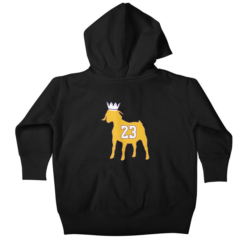 The GOAT? Kids Baby Zip-Up Hoody by lakersnation's Artist Shop