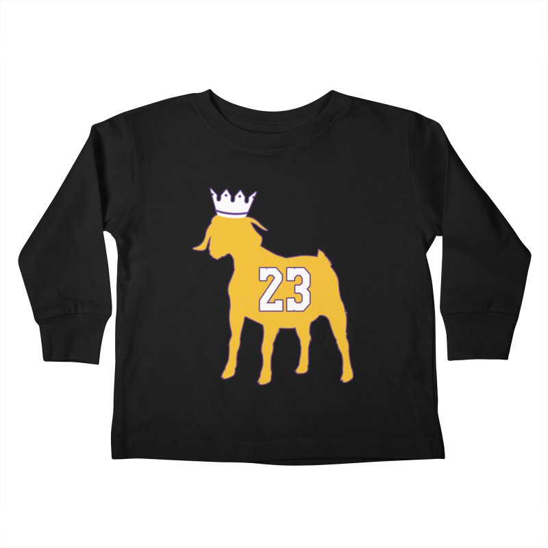 The GOAT? Kids Toddler Longsleeve T-Shirt by Lakers Nation's Artist Shop
