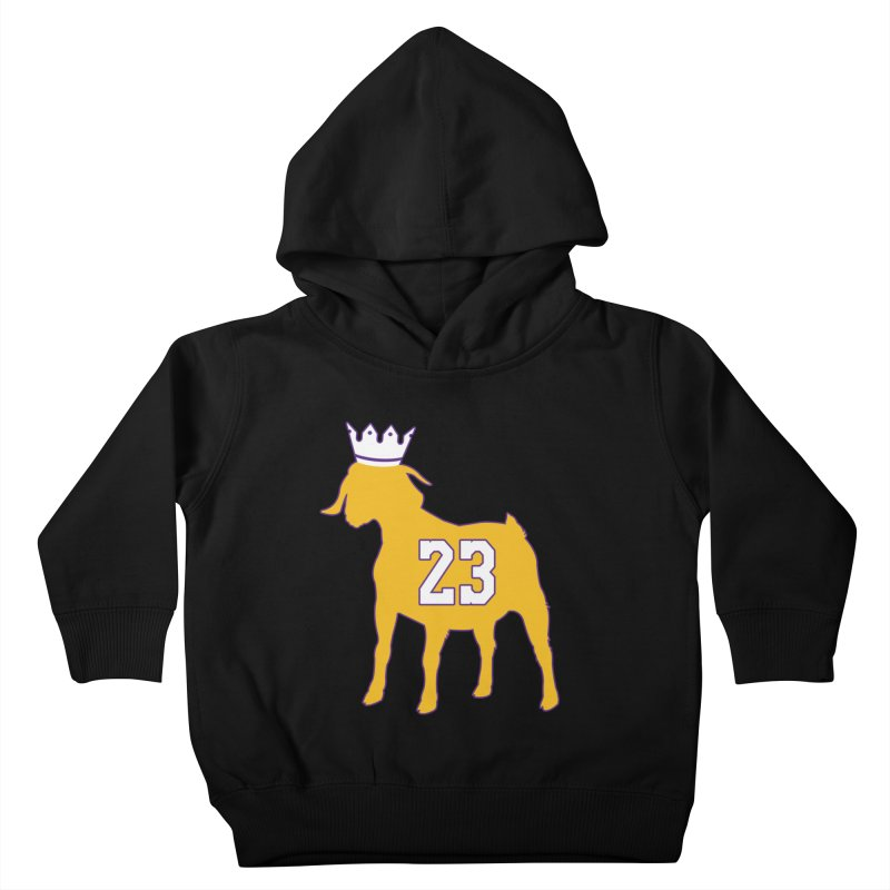 The GOAT? Kids Toddler Pullover Hoody by Lakers Nation's Artist Shop