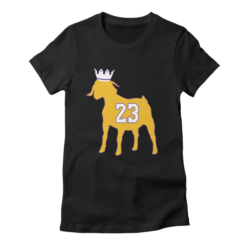 The GOAT? Women's Fitted T-Shirt by lakersnation's Artist Shop
