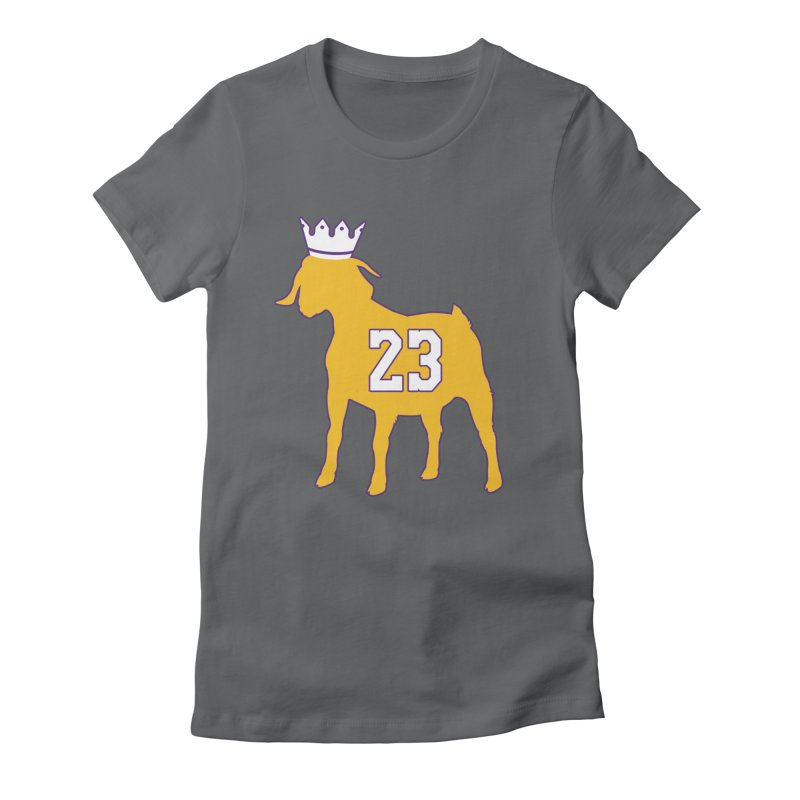 The GOAT? Women's Fitted T-Shirt by Lakers Nation's Artist Shop