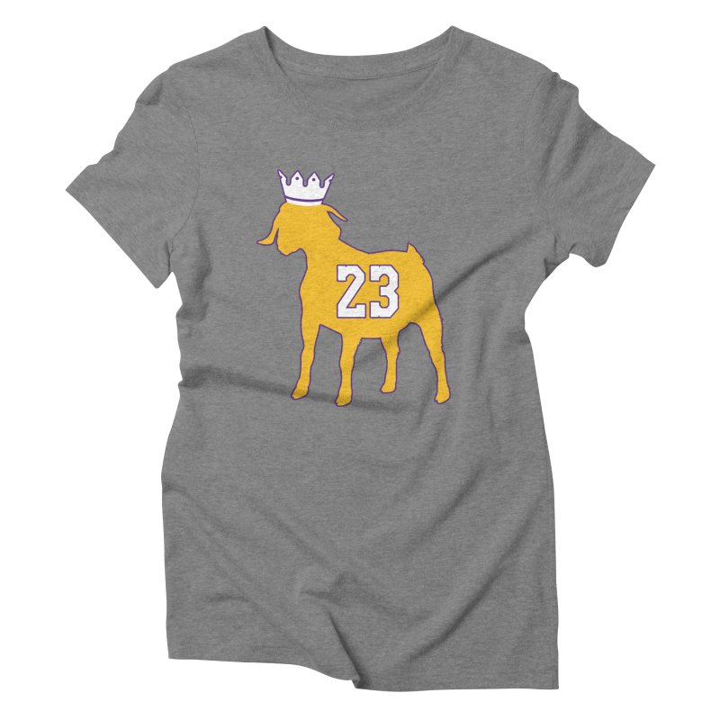 The GOAT? Women's Triblend T-Shirt by Lakers Nation's Artist Shop