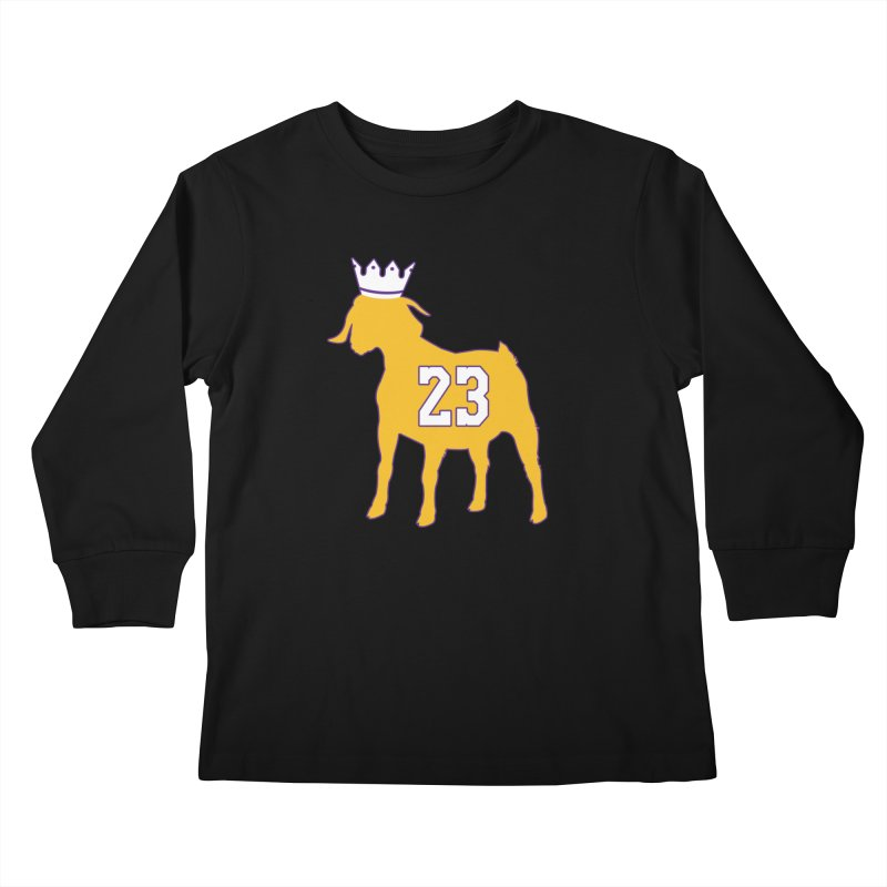 The GOAT? Kids Longsleeve T-Shirt by Lakers Nation's Artist Shop