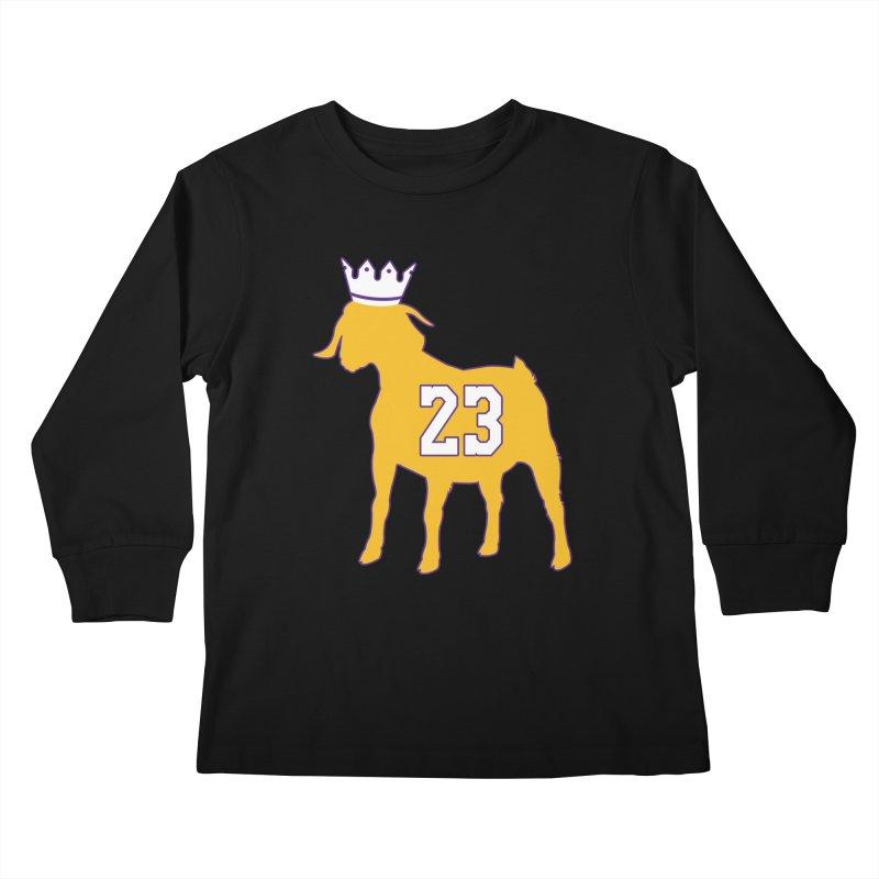 The GOAT? Kids Longsleeve T-Shirt by lakersnation's Artist Shop