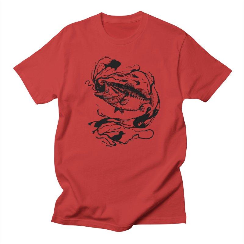 Breath Of Greed Men's T-Shirt by lakespirit fishing art