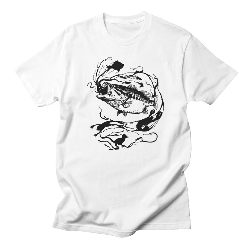 Breath Of Greed Men's T-shirt by lakespirit fishing art