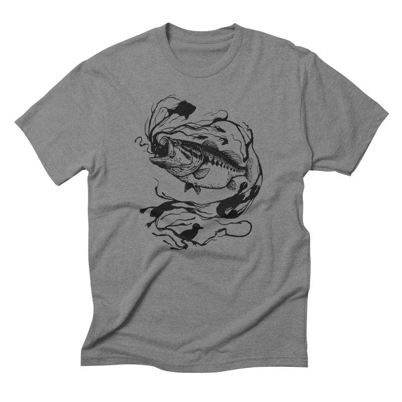 Breath Of Greed Men's Triblend T-shirt by lakespirit fishing art