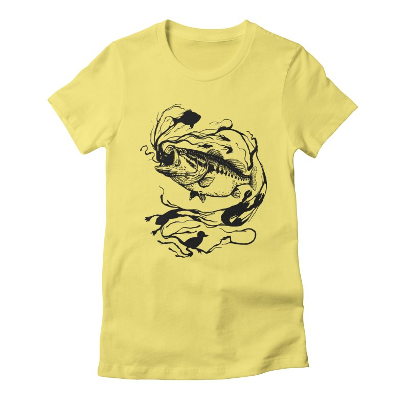 Breath Of Greed Women's Fitted T-Shirt by lakespirit fishing art
