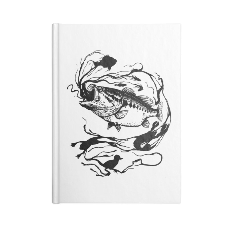 Breath Of Greed Accessories Notebook by lakespirit fishing art