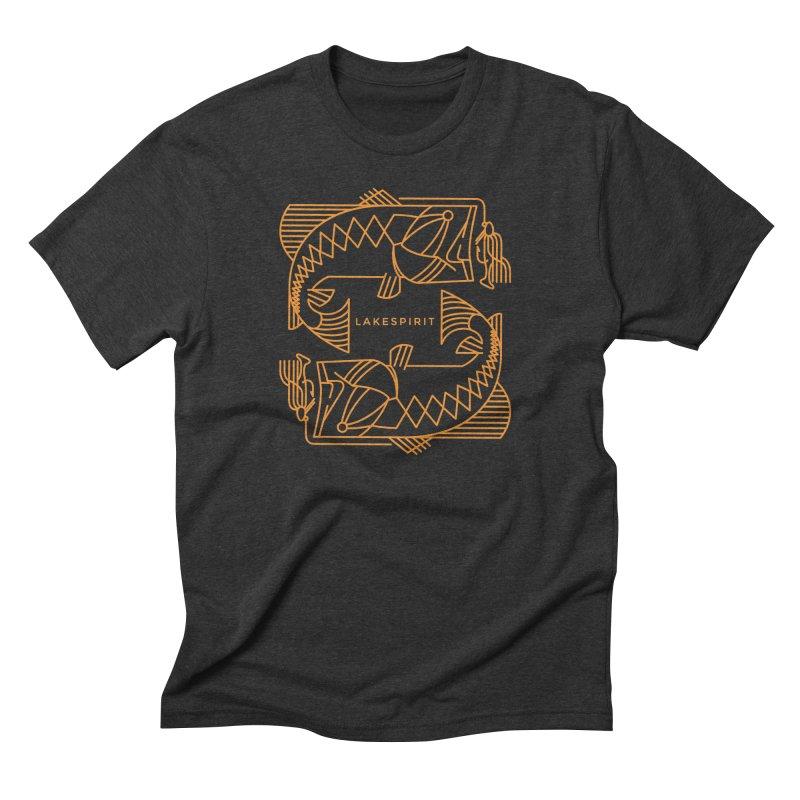 Jigging Around Men's Triblend T-Shirt by lakespirit fishing art