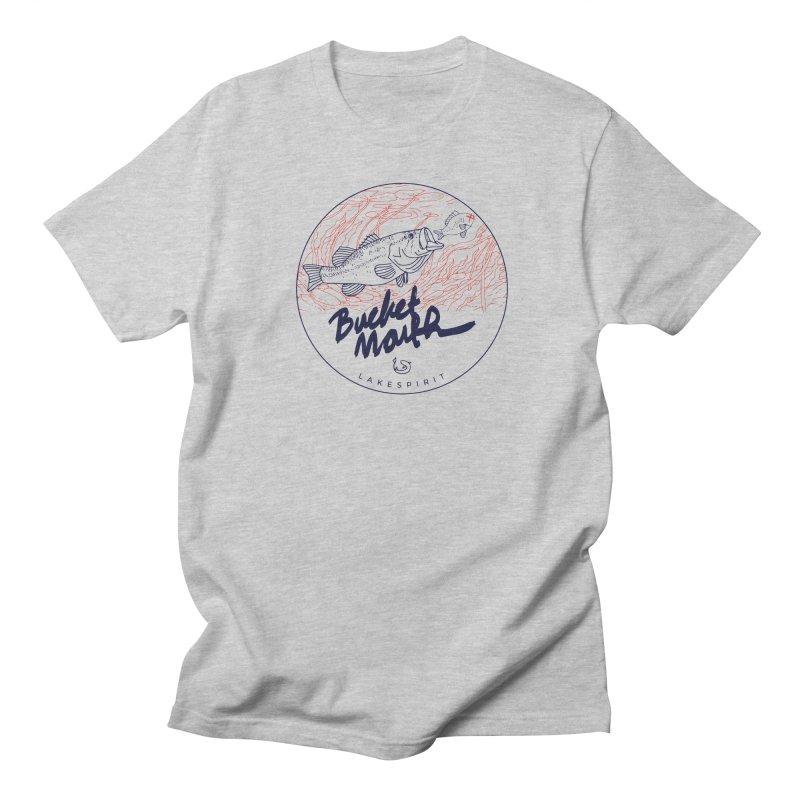 Bucketmouth Men's T-Shirt by lakespirit fishing art