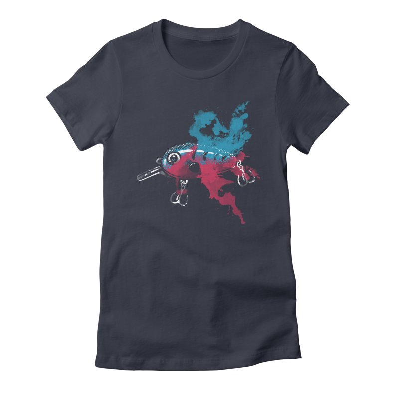 Cranky Diver Women's Fitted T-Shirt by lakespirit fishing art