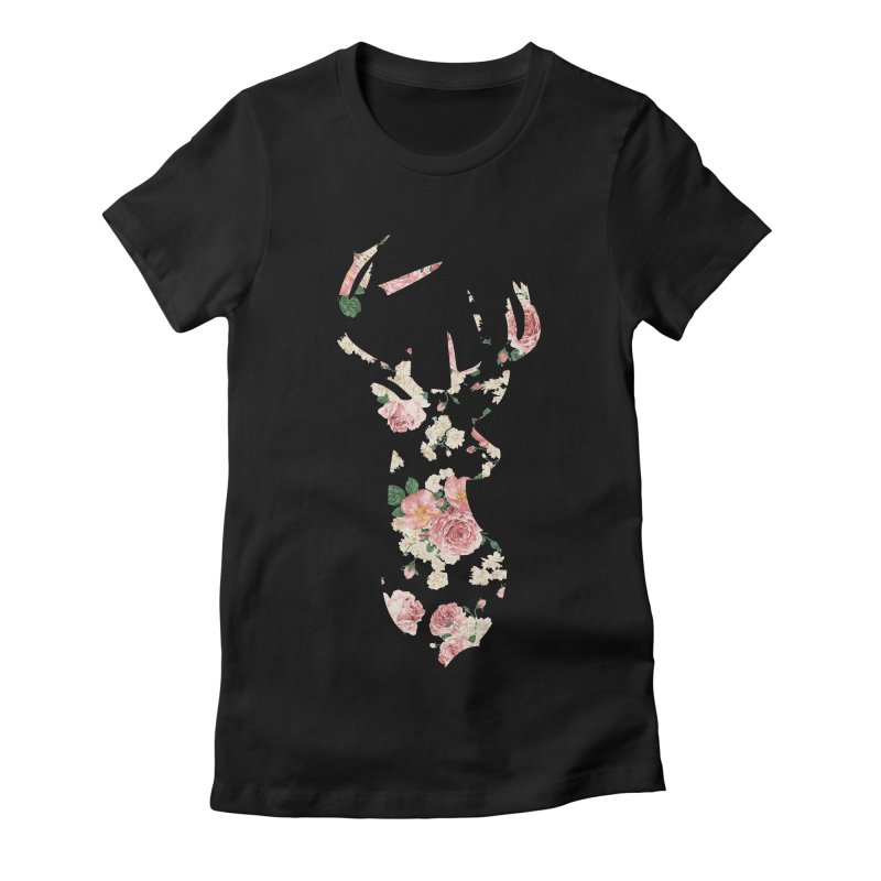 Deer Women's Fitted T-Shirt by Lakeview Boulevard