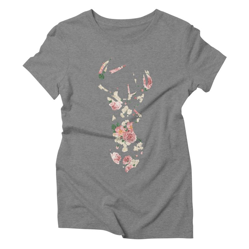 Deer Women's Triblend T-Shirt by Lakeview Boulevard