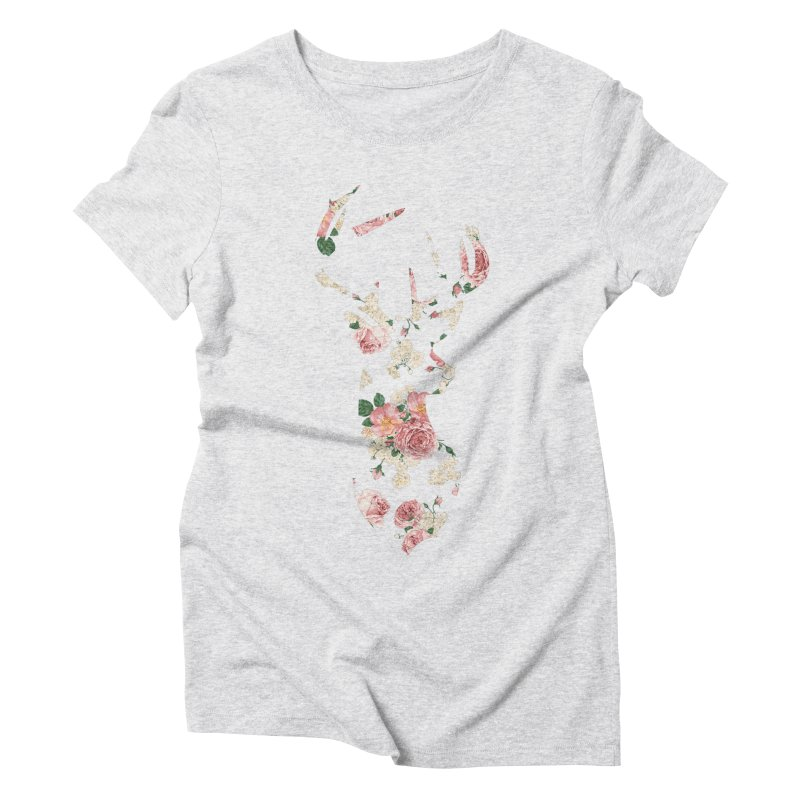 Deer Women's Triblend T-Shirt by Lakeview Boulevard