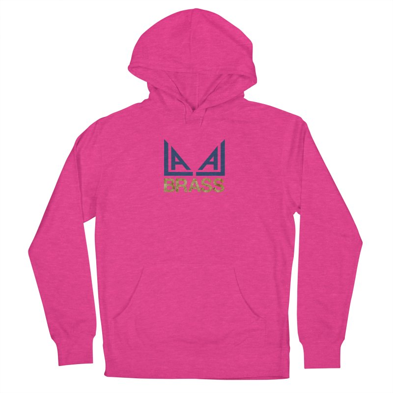 LALA Brass in Women's French Terry Pullover Hoody Heather Heliconia by LALA Brass Merch Shop