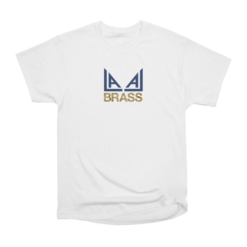 LALA Brass in Men's Heavyweight T-Shirt White by LALA Brass Merch Shop