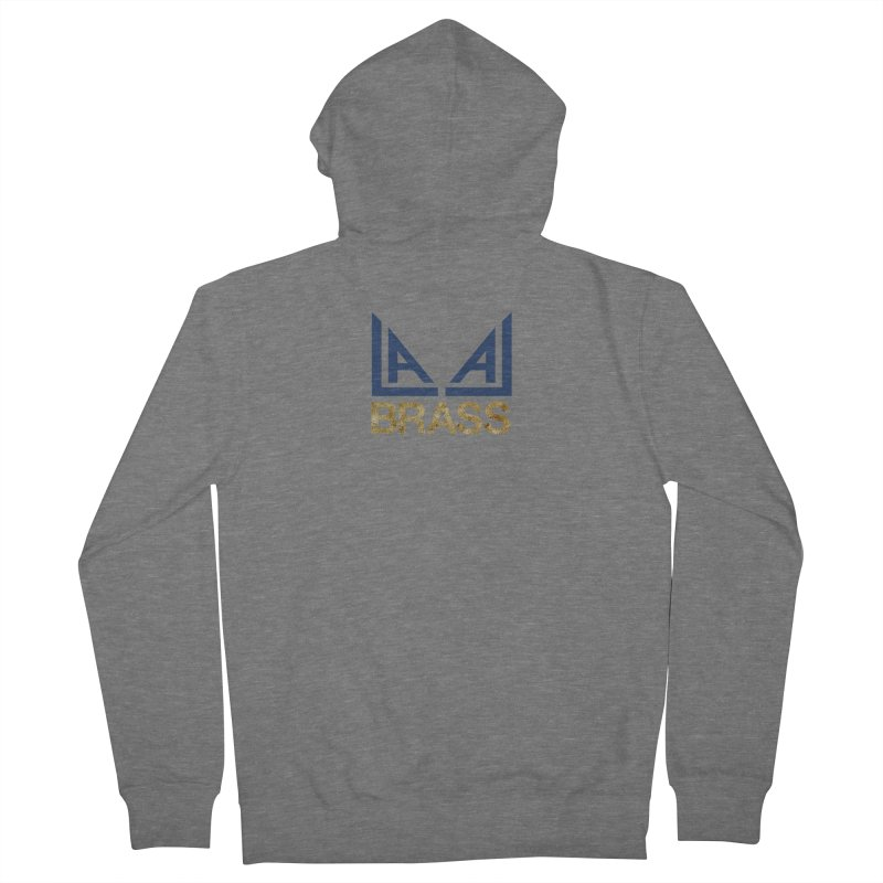 LALA Brass in Men's French Terry Zip-Up Hoody Heather Graphite by LALA Brass Merch Shop