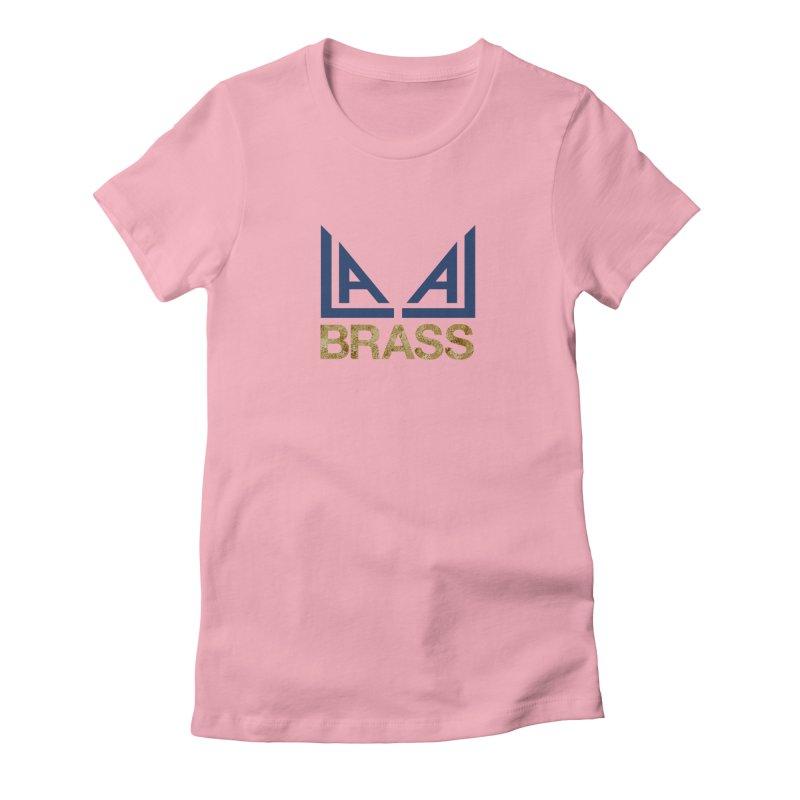 LALA Brass in Women's Fitted T-Shirt Light Pink by LALA Brass Merch Shop